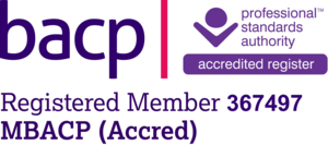 About Me. BACP Accreditation Logo